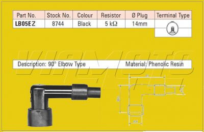NGK Spark Plug Cap/Cover - LB05EZ - 8744