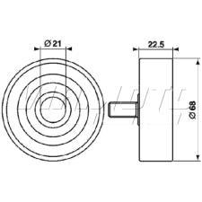 Gates Micro V Belt Kit - K014PK1218
