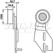 Gates Micro V Belt Kit - K015PK778
