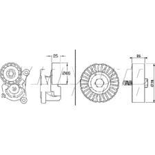 Gates Micro V Belt Kit - K016PK1203