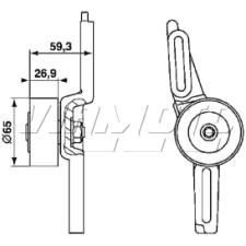 Gates Micro V Belt Kit - K025PK1023