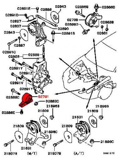 Viamoto Mitsubishi Car Parts Front Engine Mount Mr198381 Legnum