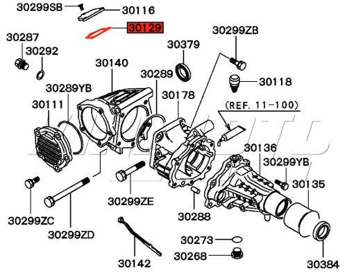 viamoto mitsubishi car parts transfer box upper cover