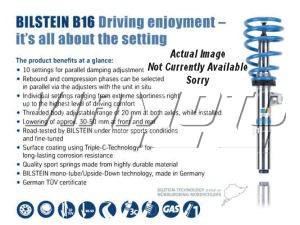 Bilstein B16 PSS9 Coilover Kit - Civic 1.6/1.7CDTi/2.0i Sport/Type-R