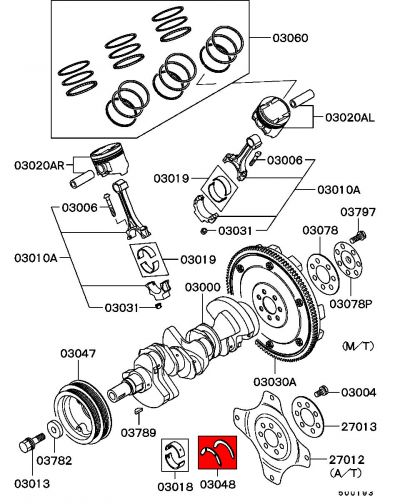 Viamoto Mitsubishi Car Parts Crank Thrust Washers - Fto 2 0 V6  Fto - Engine Parts