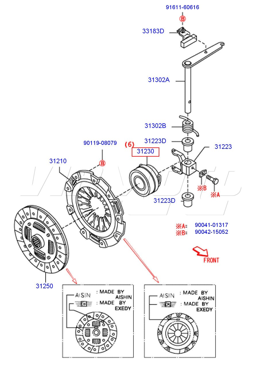 viamoto mitsubishi car parts clutch kit daihatsu copen 1298cc 16v rh viamoto co uk 42RE Transmission Diagram Simple Transmission Diagram