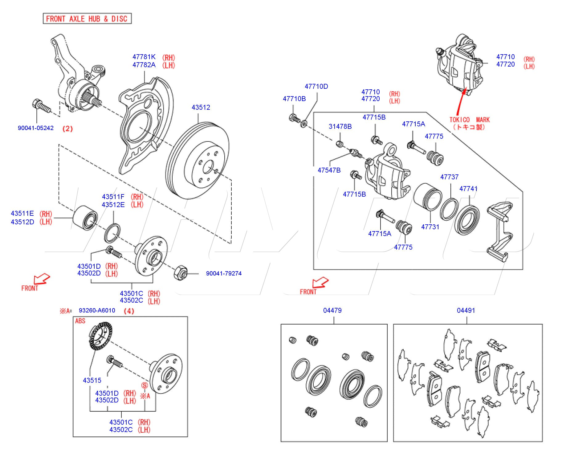 Viamoto Car Parts Daihatsu Copen 13i Roadster L88 K3 Ve 16v Dohc Disc Brake Caliper Components And Diagram Front Brakes Exploded Here Price 995