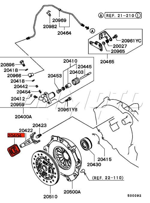viamoto mitsubishi car parts clutch fork dust seal