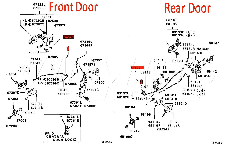 car door lock diagram viamoto mitsubishi car parts door lock grey rh linkedlifes com car door parts diagram car door parts diagram with names