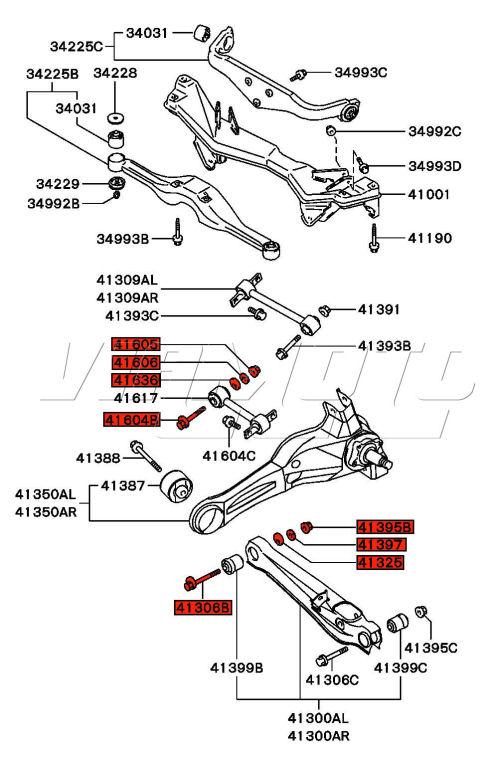 Products on Mitsubishi Lancer Rear Suspension Diagram