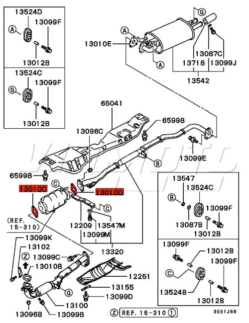 acura tl exhaust systems diagram