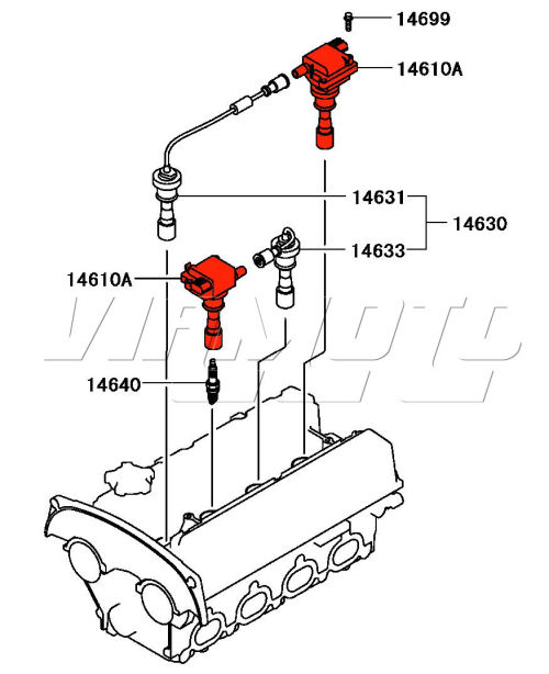 Ignition Coil Pack - Mitsubishi Lancer EVO 5 6 CP9A