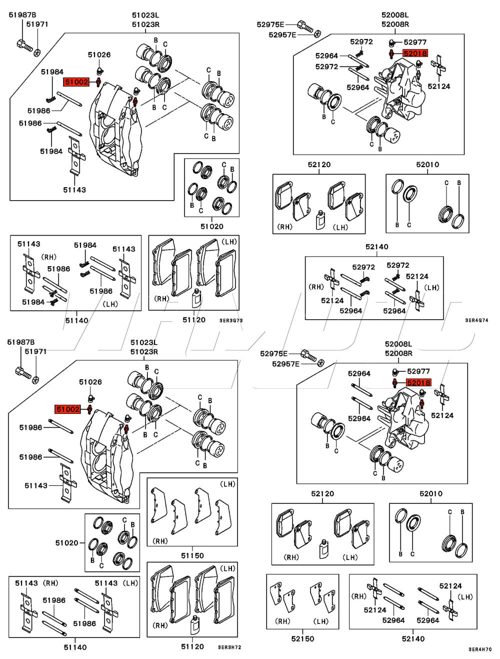 Viamoto Car Parts Mitsubishi Lancer Evo 5 6 Cp9a Engine Diagram Part Number