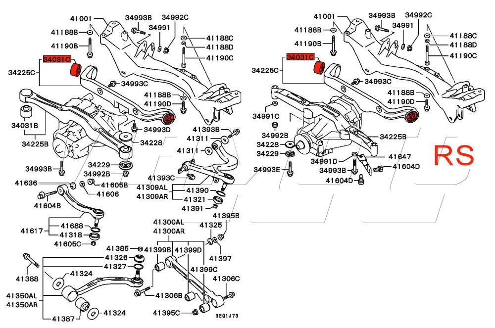 Viamoto Mitsubishi Car Parts Rear Diff Mount Rear