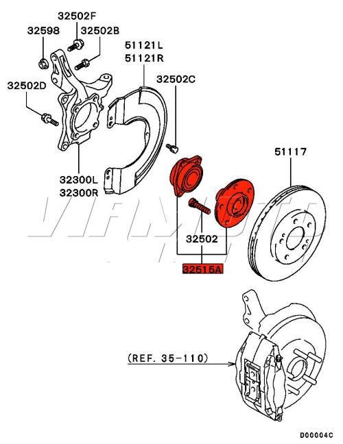 Viamoto Mitsubishi Car Parts Front Wheel Bearing