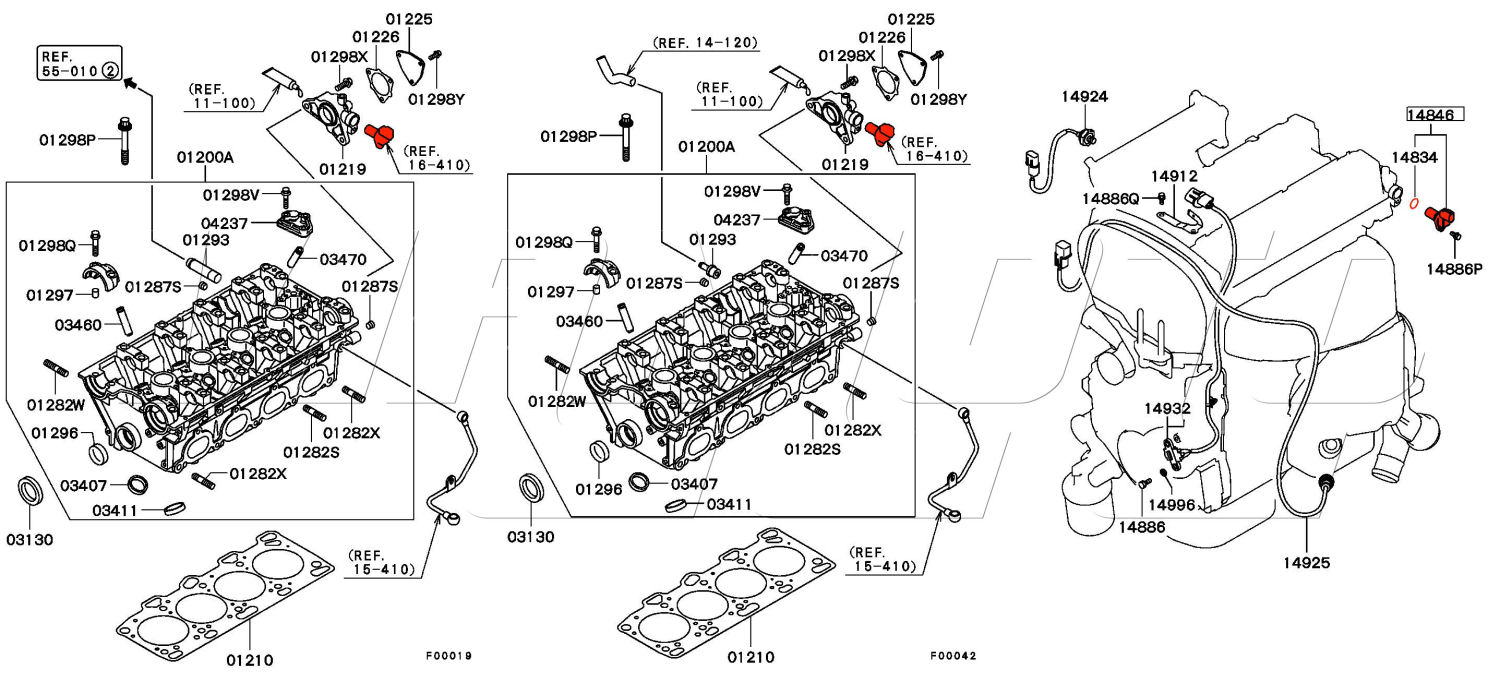 Evo Engine Diagram Largest Wiring Database 2008 Mitsubishi Lancer Viamoto Car Parts 7 8 Ct9a And Ancilliary X 4