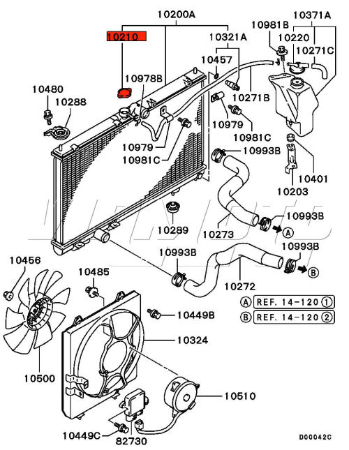 hyundai santa fe radiator diagram