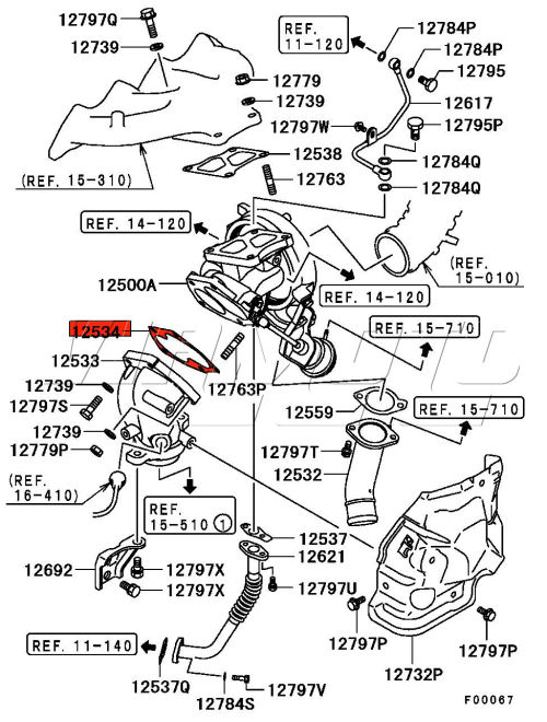 mitsubishi lancer evolution exhaust diagram