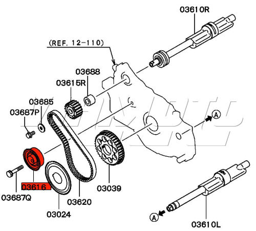 Evo Balance Shaft Belt Tensioner Location on evo cam cover diagram