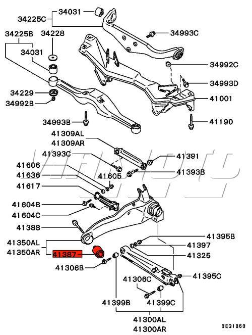 Viamoto Car Parts Mitsubishi Lancer Evo 1 Cd9a Parts Evo 1 Cd9a