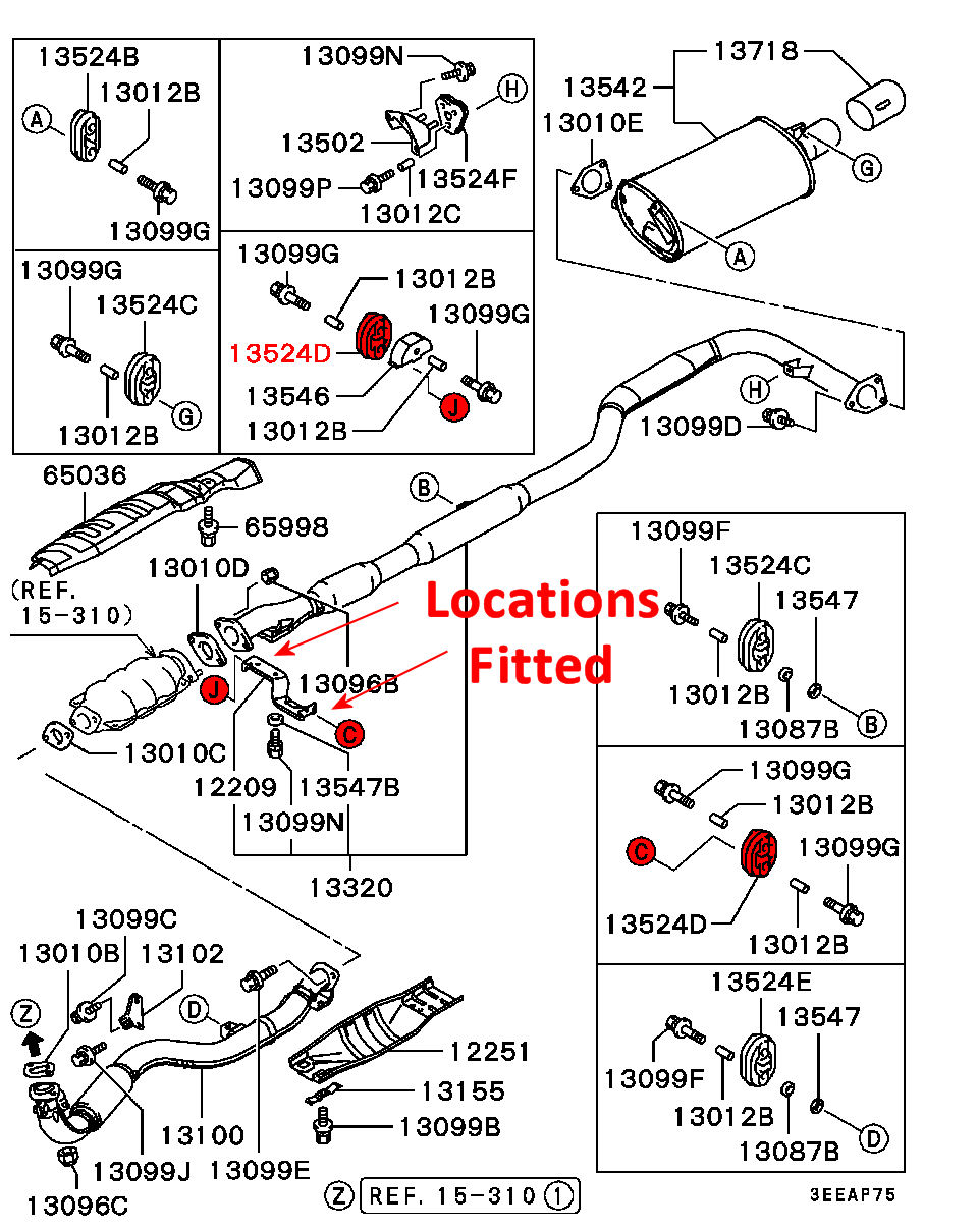 Viamoto Car    Parts        Mitsubishi       Lancer       EVO    4 CN9A    Parts        EVO    4 CN9A  Exhaust Systems and Exhaust