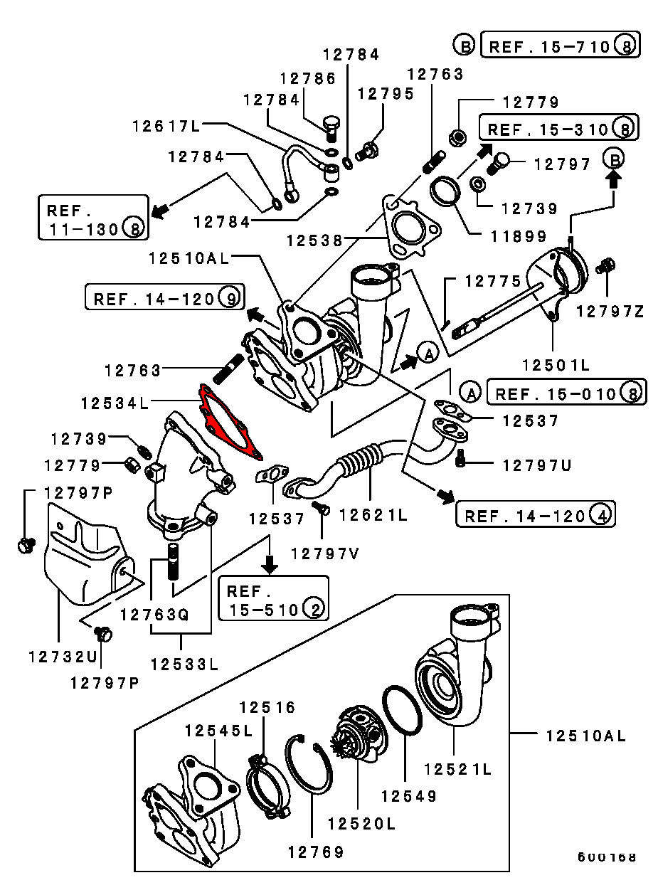 mitsubishi 3000gt exhaust system parts diagram  mitsubishi