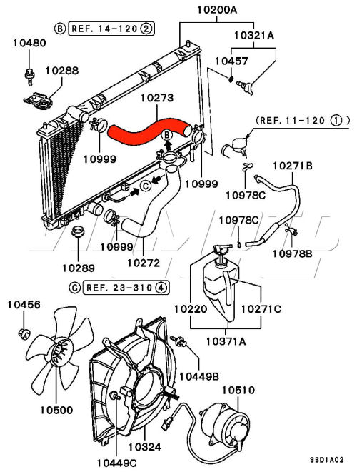 Car Coolant Hose Diagram