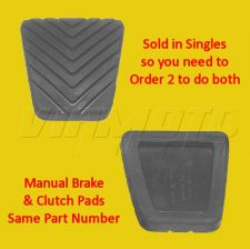 Brake and Clutch Rubber Pad - Legnum/Galant VR4 2.5 TT - Manual