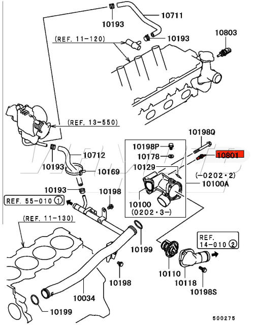 viamoto car parts mitsubishi fto parts fto engine parts 2 v6 Photo Diagram of a 3 0 Car Engine dash temperature sender this item provides the signal that gives temp on dash gauge this image shows location of this item on v6 fto s