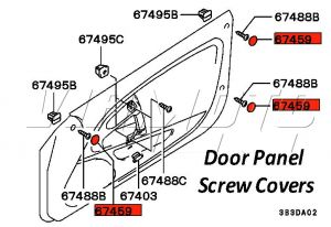 Door Card Panel Screw Cap - Mitsubishi FTO
