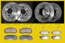 Full Set Front Discs/Rear Discs Front Pads/Rear Pads - FTO Non Mivec