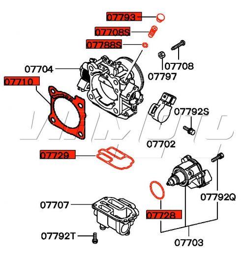 Throttle Body Seal and Gasket Kit - Mitsubishi FTO