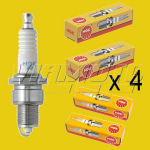 NGK Standard Spark Plugs X 4 - FTO 1.8 GS DE2A