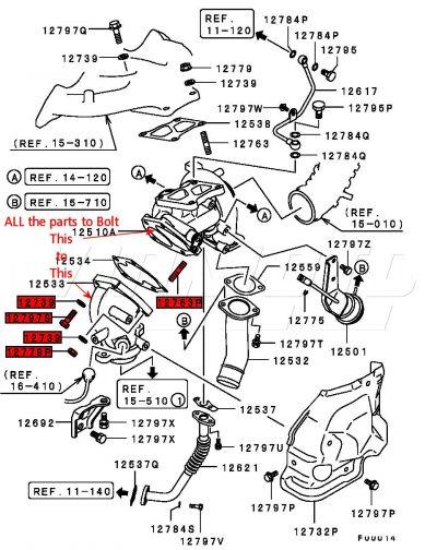 Enjoyable Viamoto Mitsubishi Car Parts Turbo To Turbo Elbow Bolts Studs Nuts Wiring Digital Resources Sapredefiancerspsorg