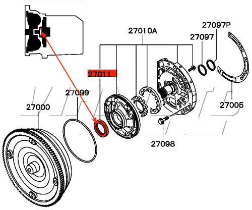 Viamoto Mitsubishi Car Parts A T Pump Oil Seal Legnum Vr4 Galant